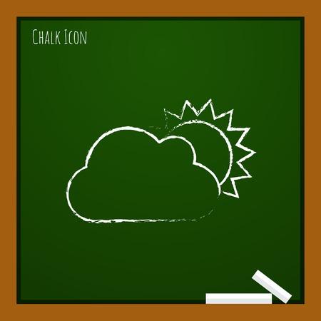 nebulosidade: Vector cloudiness icon.  Ilustração