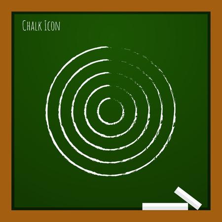 ziel icon: Vector Zielsymbol.