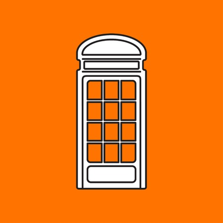 telephone box: Vector telephone box icon. Eps10