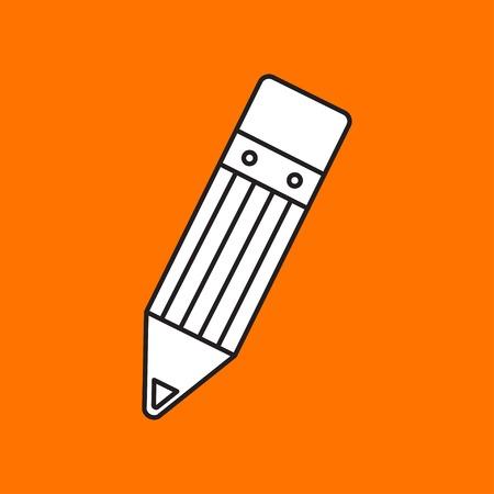 eraser mark: Vector pencil icon. Eps10