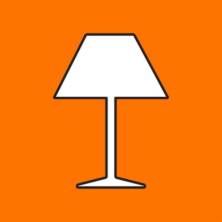 lampshade: Vector reading-lamp icon. Eps10