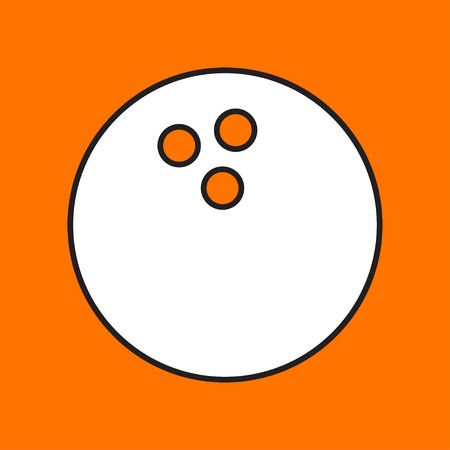 sports shell: Vector bowling ball icon. Eps10 Illustration