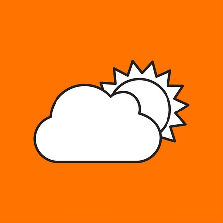 cloudiness: Vector cloudiness icon. Eps10