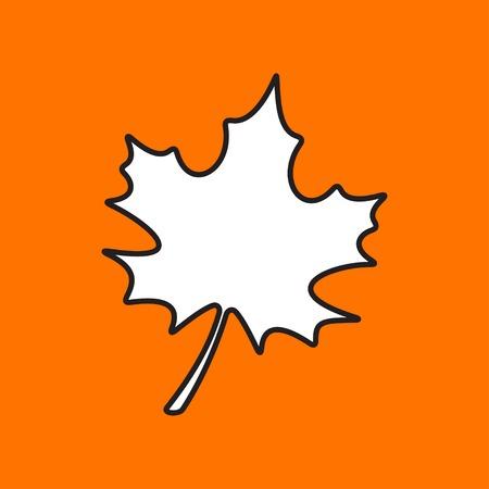 maple leaf icon: Vector maple leaf icon. Eps10