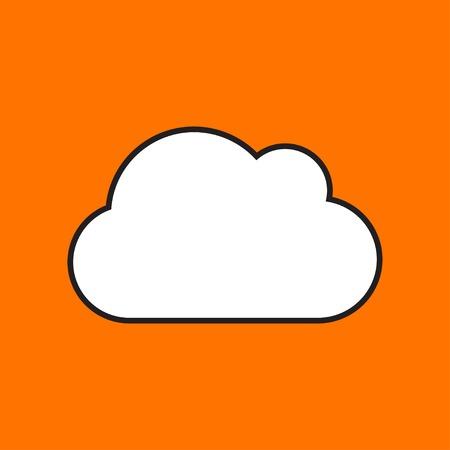 vector icon: Vector cloud icon. Eps10 Illustration