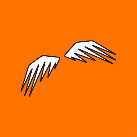 wings icon: Vector wings icon. Eps10