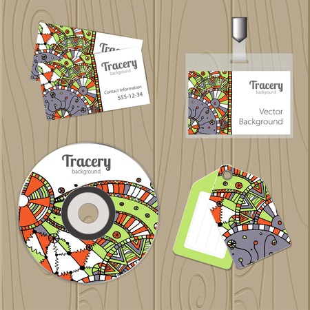 Vector corporate identity template with cartoon elements. Eps10