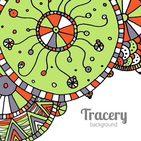 doddle: Vector hand drawing doddle ethnic pattern. Background with geometric elements. Eps10