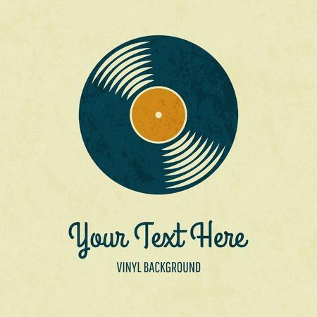 vinyl: Vector retro color vinyl record card. Eps10