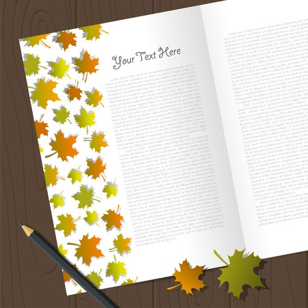 autumn leafs: Vector corporate identity template with autumn leafs. Eps10