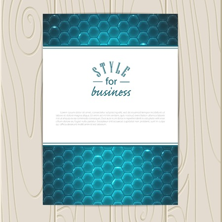 electric grid: Vector corporate identity template. Business card, disc, document, tag.   Illustration