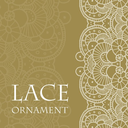 Vector lace ornament background