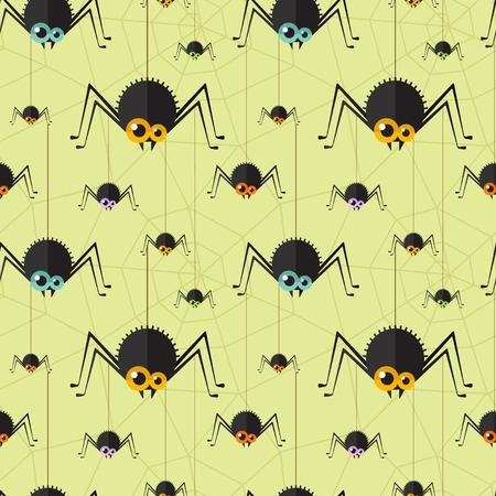 halloween spider: halloween spider seamless background