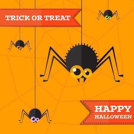 web2: halloween spider background.