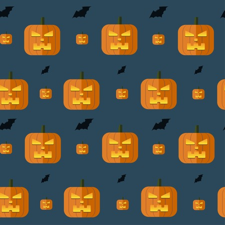 halloween background: Vector halloween pumpkin background