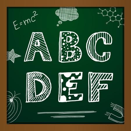 dessin craie: Dessin � la craie alphabet
