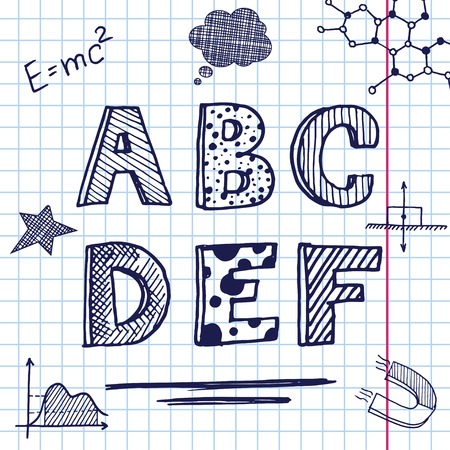 semester: back to school concept font