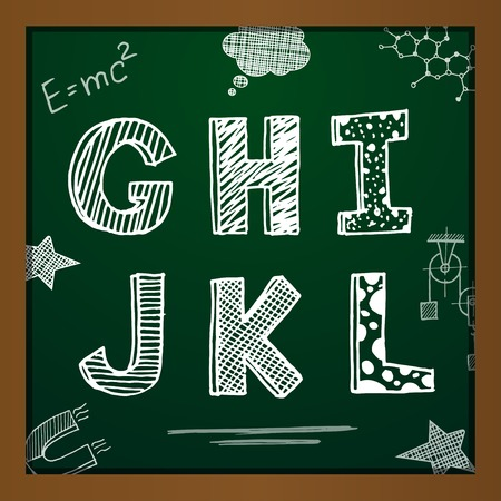 chalk drawing: chalk drawing alphabet