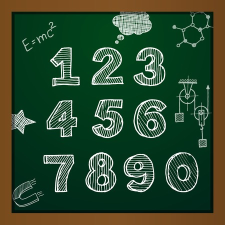 chalk drawing: chalk drawing numbers