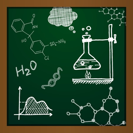 chemical compound: chalk draw chemistry elements