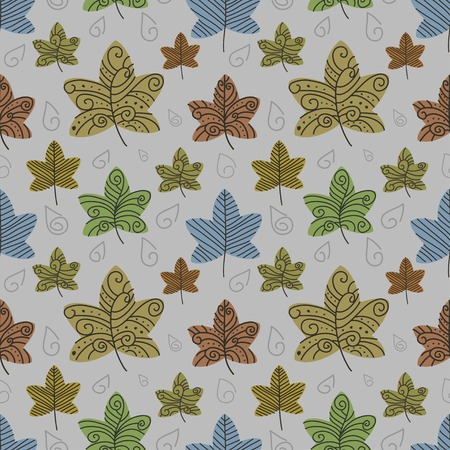 Vector autumn leafs background. Eps10