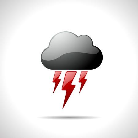 gloss: Vector gloss color weather icon. Flash.