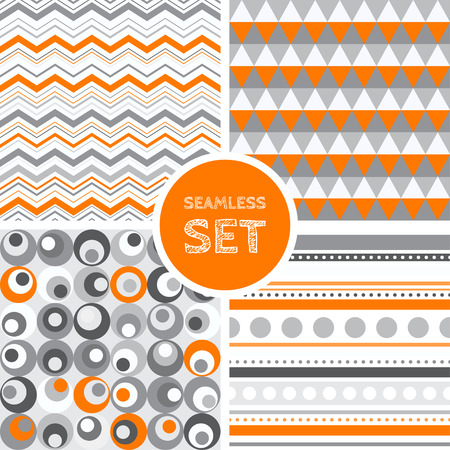 fabric patterns: Vector set of four seamless backgrounds. Patterns for scrap-booking, fabric design.