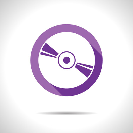 cdr: Vector flat style compact disc icon.