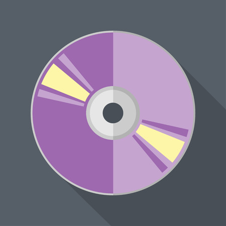 compact disc: Vector flat style compact disc icon.