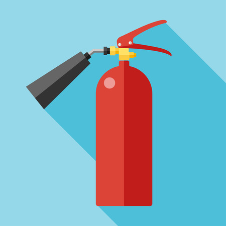 firealarm: Vector flat fire extinguisher icon.