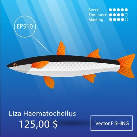 Vector Flachmeeräsche-Symbol. Tropische Fische. Eps10 Standard-Bild - 44544802