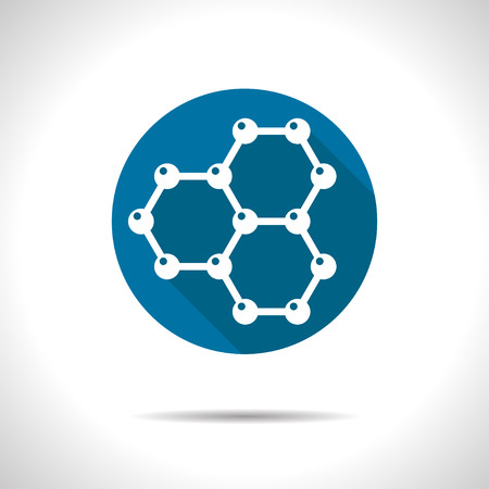 graphene: Vector graphene flat icon. Science illustration