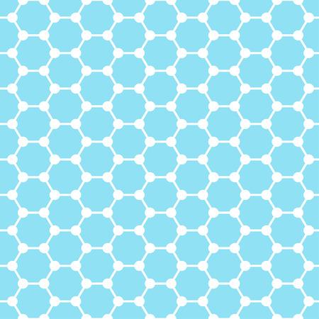 graphene: Vector graphene flat icon. Science illustration. Seamless pattern