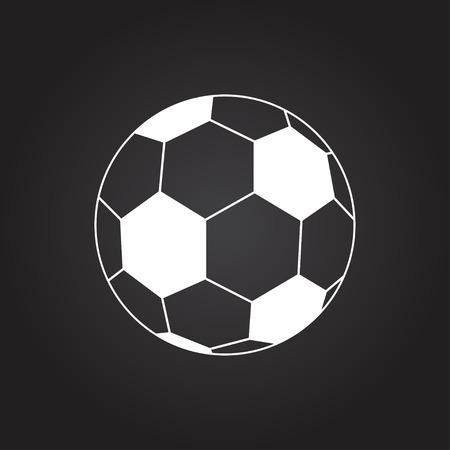 nfl football: Vector flat white football icon on dark background Illustration