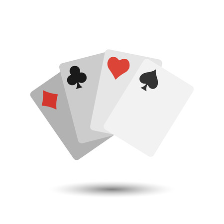 poker card: Vector simple flat game cards icon. Sport illustration
