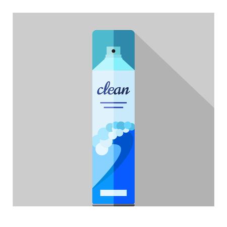 Vector flat air freshener aerosol bottle. Ocean 向量圖像