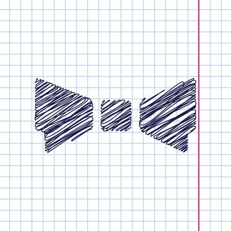 Vector pajarita icono aislado en el fondo cuaderno. Eps10 Ilustración de vector