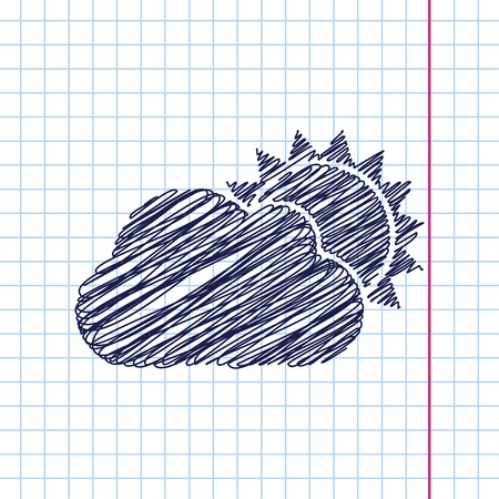 cloudiness: Vector cloudiness icon isolated on copybook background. Eps10 Illustration
