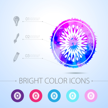 fruitage: Vector watercolor kiwi icon with infographic elements Illustration