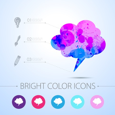 callout: Vector watercolor callout icon with infographic elements