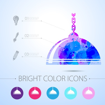 luster: Vector watercolor luster icon with infographic elements