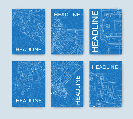 blueprint: Vector Illustration with  technical blueprint of  mechanism.
