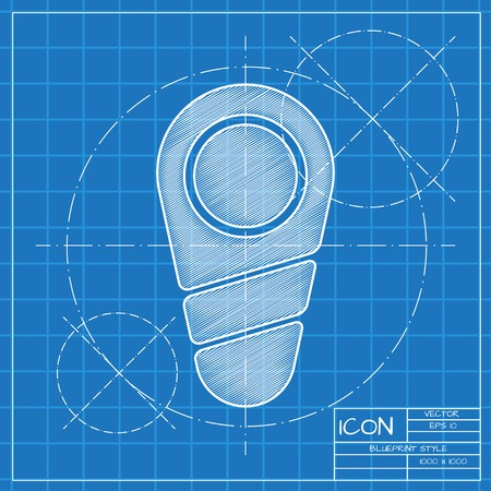 blueprint: Vector blueprint newborn icon . Engineer and architect background.