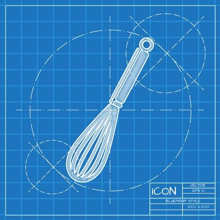 corolla: Vector blueprint corolla icon . Engineer and architect background.