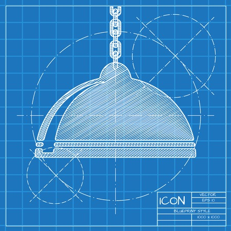 luster: Vector blueprint luster icon . Engineer and architect background. Illustration