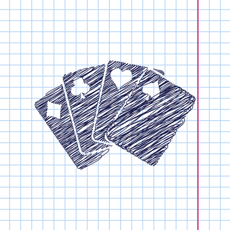 black jack: Vector isolate game cards icon. Eps10 Illustration