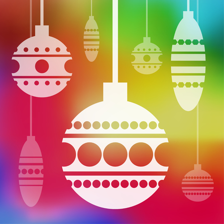 holiday background: Vector holiday card with blur background. Eps10 Illustration