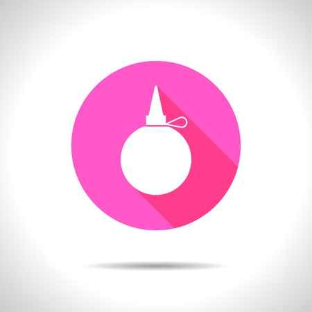 lubricate: Vector flat tailor oiler icon on color circle