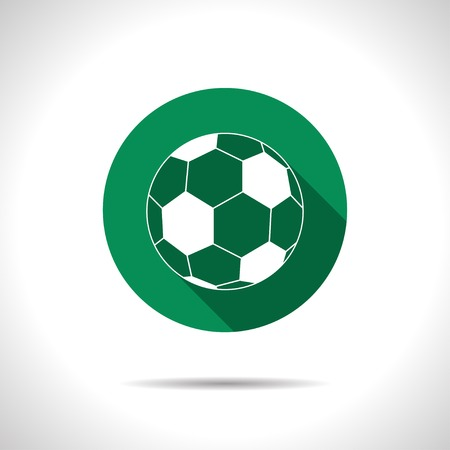 moving activity: Vector flat football icon on color circle Illustration