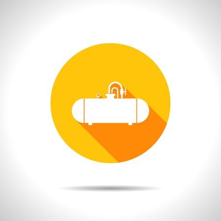 aljibe: Vector cisterna plana icono en círculo de color Vectores